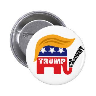 Donald Trump For President GOP Elephant Hair Button