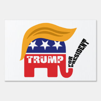 Donald Trump For President GOP Elephant Hair Lawn Sign