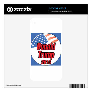 Donald Trump for president in 2016 Skin For iPhone 4