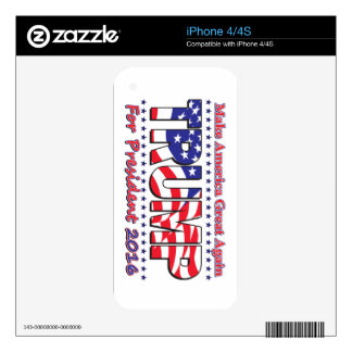 Donald Trump for President iPhone 4S Skin