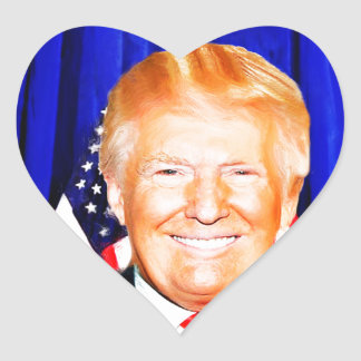 Donald TRUMP-for President of USA _ Heart Sticker