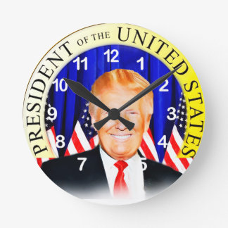 Donald TRUMP-for President of USA _ Round Clock