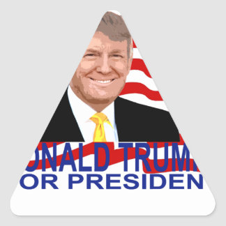 Donald Trump for President T Shirt '';.png Triangle Sticker