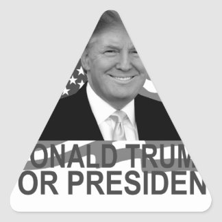 Donald Trump for President T Shirt ;''.png Triangle Sticker