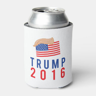 Donald Trump for President with Hair 2016 Election Can Cooler