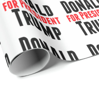 Donald Trump For President Wrapping Paper