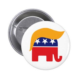 Donald Trump GOP Elephant Hair Button