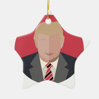 Donald Trump Graphic Representation Ceramic Ornament