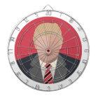 Donald Trump Graphic Representation Dartboard With Darts