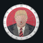 "Donald Trump Graphic Representation Dartboard With Darts<br><div class=""desc"">This is an artistic representation of Donald Trump who is a 2016 presidential nominee. This is a completely unique design not in mass production. Be one of the first to own a piece of history and proudly show your support.</div>"