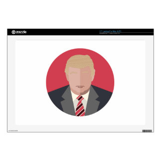 "Donald Trump Graphic Representation Decals For 17"" Laptops"