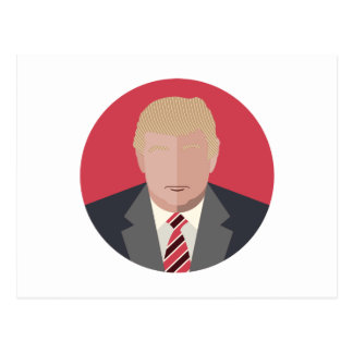 Donald Trump Graphic Representation Postcard