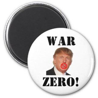 Donald Trump: ¡Guerra cero! Imán Redondo 5 Cm
