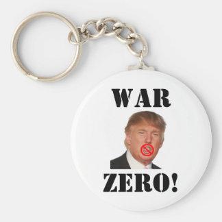 Donald Trump: ¡Guerra cero! Llavero Redondo Tipo Pin
