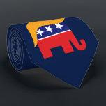 """Donald Trump Hair GOP Elephant Logo Neck Tie<br><div class=""""desc"""">GOP Elephant Logo with Iconic Donald Trump Hair. Donald Trump for President 2016.</div>"""