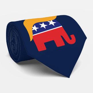 Donald Trump Hair GOP Elephant Logo Neck Tie