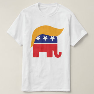 Donald Trump Hair GOP Elephant Logo T-Shirt