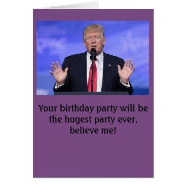 "Beach Themed Donald Trump ""huge party"" birthday card"