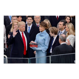Donald Trump Is Sworn In As President Poster