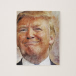 "Donald Trump Jigsaw Puzzle<br><div class=""desc"">Portrait of Donald Trump,  which can be placed on various items</div>"