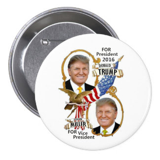 Donald Trump / John Miller Pinback Button