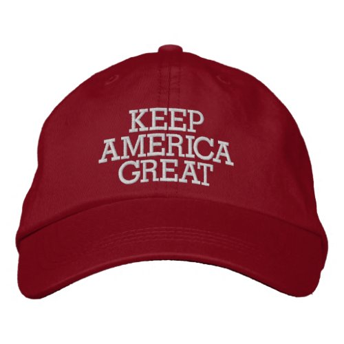 Donald Trump Keep America Great Embroidered Baseball Cap