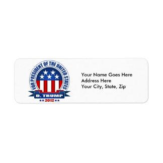Donald Trump Return Address Label