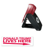 Donald Trump Lives here Pocket Stamp<br><div class='desc'>Use this stamp to remind other great Americans that the GEOTUS,  Donald Trump lives there with this pocket sized stamp. We have the best stamps folks.</div>