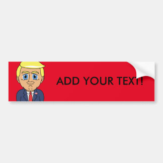 Donald Trump Looking Smug Bumper Sticker