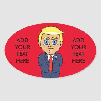 Donald Trump Looking Smug Oval Sticker