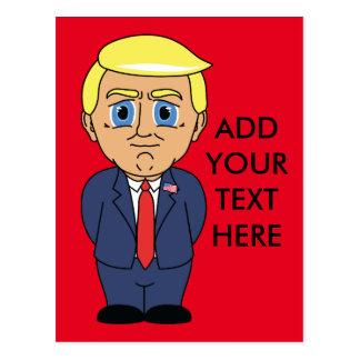 Donald Trump Looking Smug Postcard
