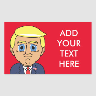 Donald Trump Looking Smug Rectangular Sticker