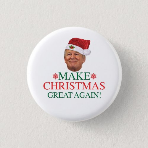Donald Trump _ Make Christmas Great Again Button