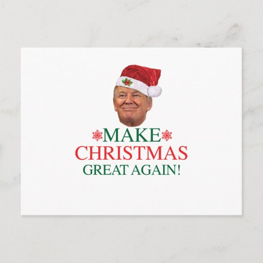 donald trump make christmas great again postcard