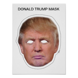 Witty image pertaining to donald trump mask printable