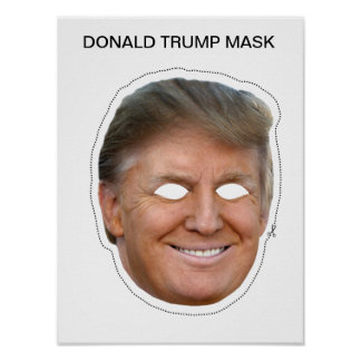 Delicate image within donald trump mask printable