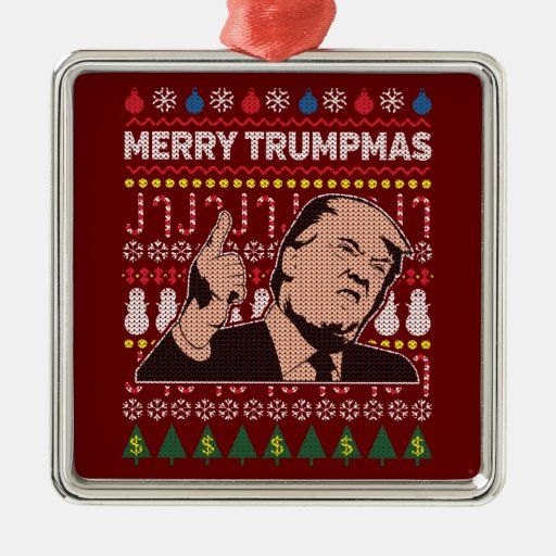 Donald Trump Merry Trumpmas Holiday Metal Ornament