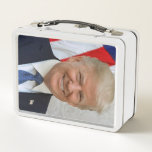 """Donald Trump Metal Lunch Box<br><div class=""""desc"""">Donald Trump official portrait. Portrait of the 45s president of the United States of America.</div>"""