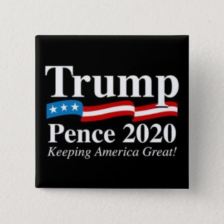Donald Trump Mike Pence 2020 Presidential Button