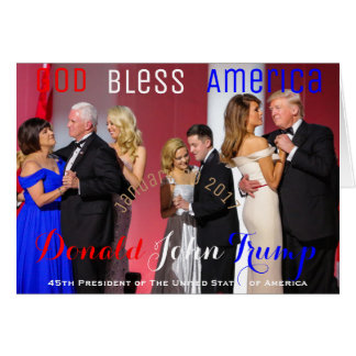 Donald Trump Mike Pence Family Dance Liberty Ball Card