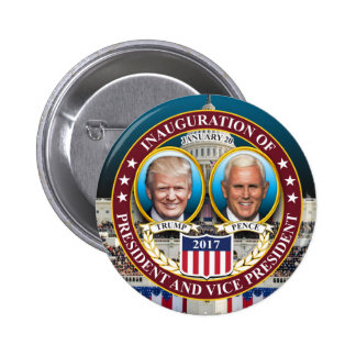 DONALD TRUMP MIKE PENCE PRESIDENTIAL INAUGURATION PINBACK BUTTON