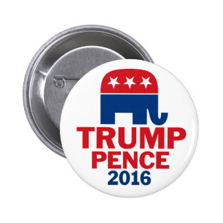 Donald Trump & Mike Pence Republican Elephant Pinback Button