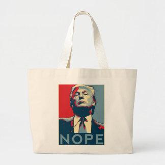 """Donald Trump """"NOPE"""" Large Tote Bag"""