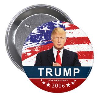 Donald Trump para el presidente 2016 3 pulgadas Pin Redondo De 3 Pulgadas
