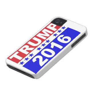 Donald Trump para el presidente 2016 Case-Mate iPhone 4 Cobertura