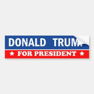Donald Trump para el presidente 2016 Pegatina Para Auto