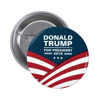 Donald Trump para el presidente 2016 Pin Redondo De 2 Pulgadas