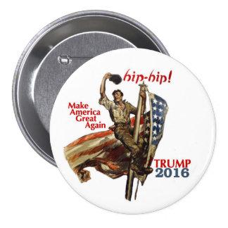 Donald Trump para el presidente 2016 Pin Redondo De 3 Pulgadas