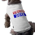 Donald Trump para el presidente 2016 Camisas De Mascota