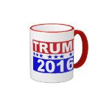 Donald Trump para el presidente 2016 Taza De Dos Colores